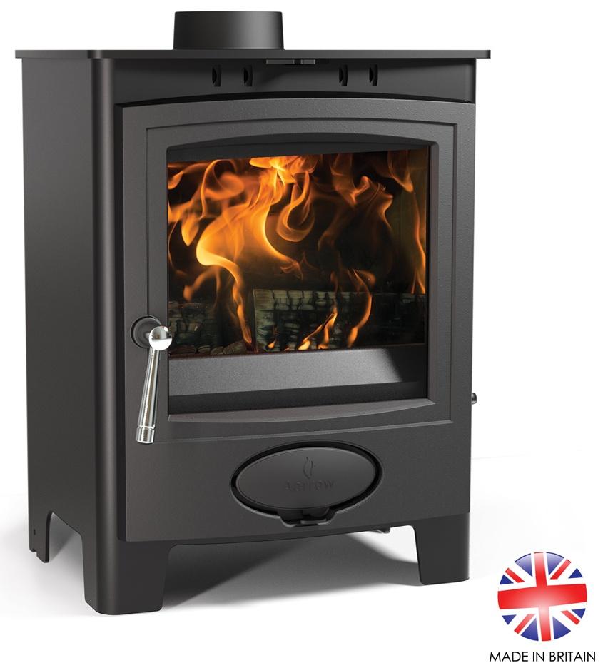 4.9kW Ecoburn Plus 5 Defra Multi Fuel and Wood Burning Stove