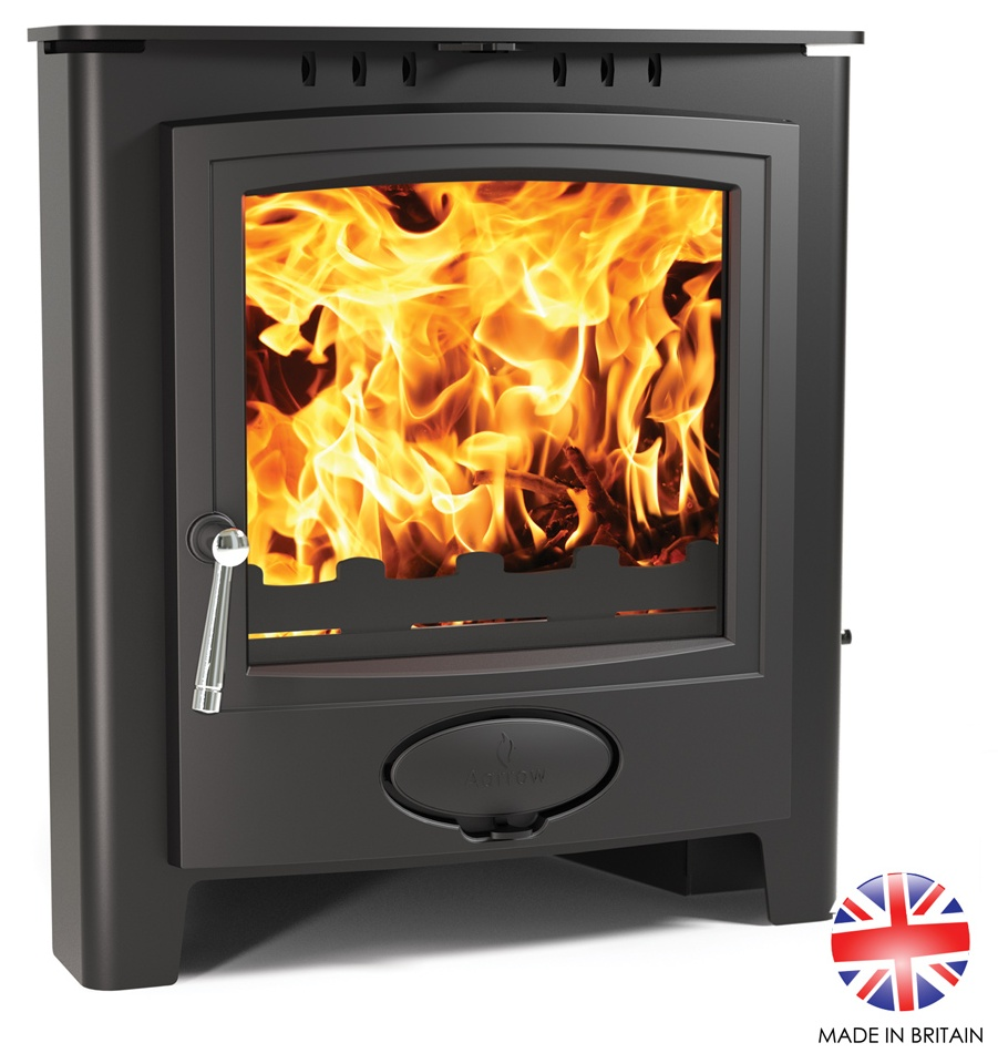 4.9KW Ecoburn Plus 5 Inset Multi Fuel and Wood Burning Stove