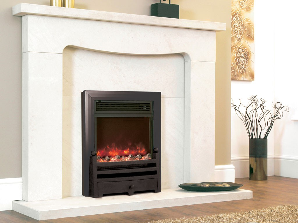 1.8KW Electriflame Bauhaus Black Electric Fire