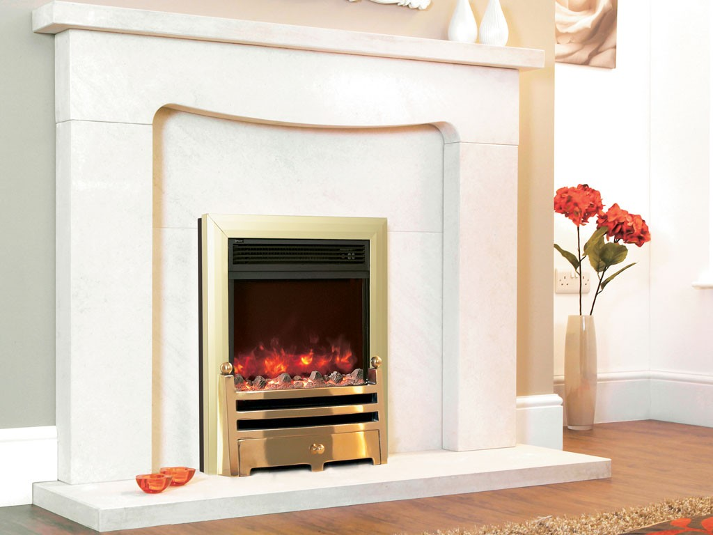 1.8KW Electriflame Bauhaus Brass Electric Fire
