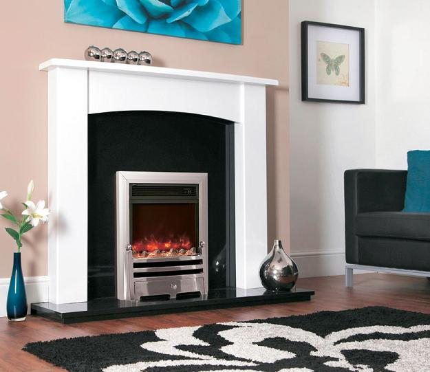 1.8KW Electriflame Bauhaus Satin Silver Electric Fire