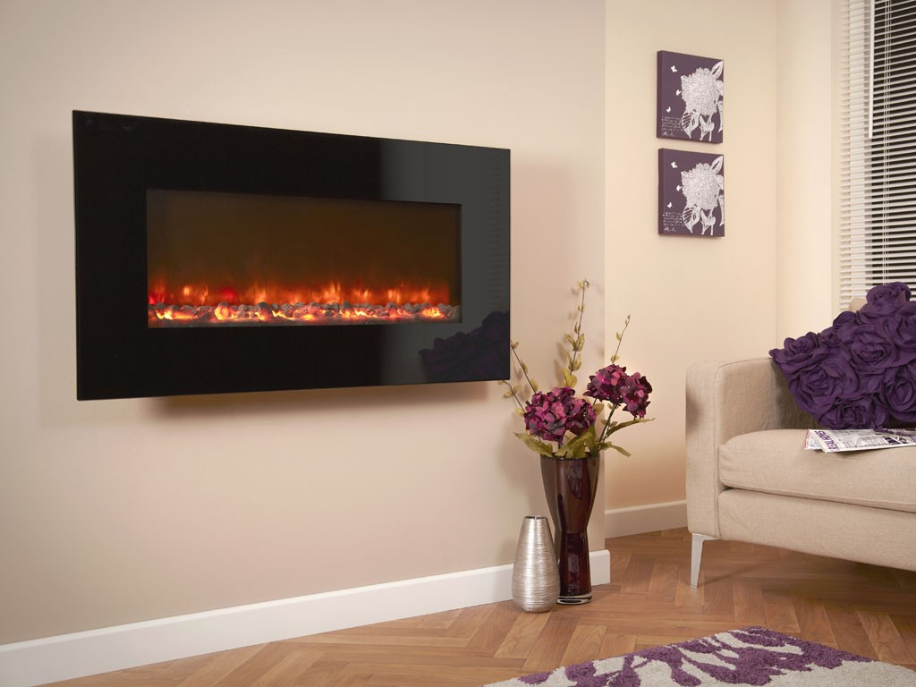 1.5KW Electriflame Black Glass 1100 Electric Fire