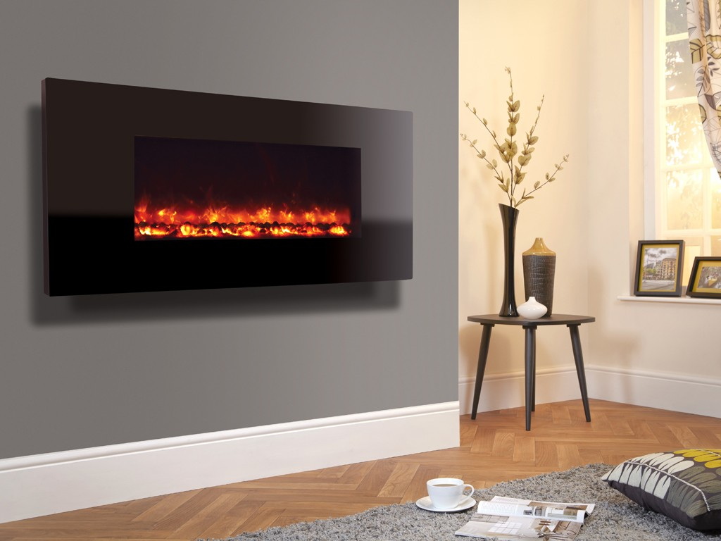1.8KW Electriflame XD 1100 Piano Black Electric Fire