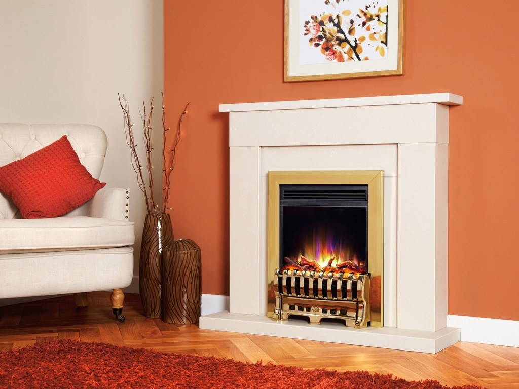 1.5KW Electriflame XD Royale Brass Electric Fire