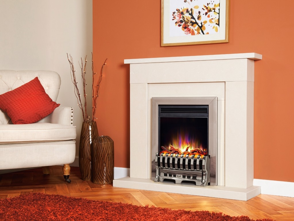 1.5KW Electriflame XD Royale Silver Electric Fire