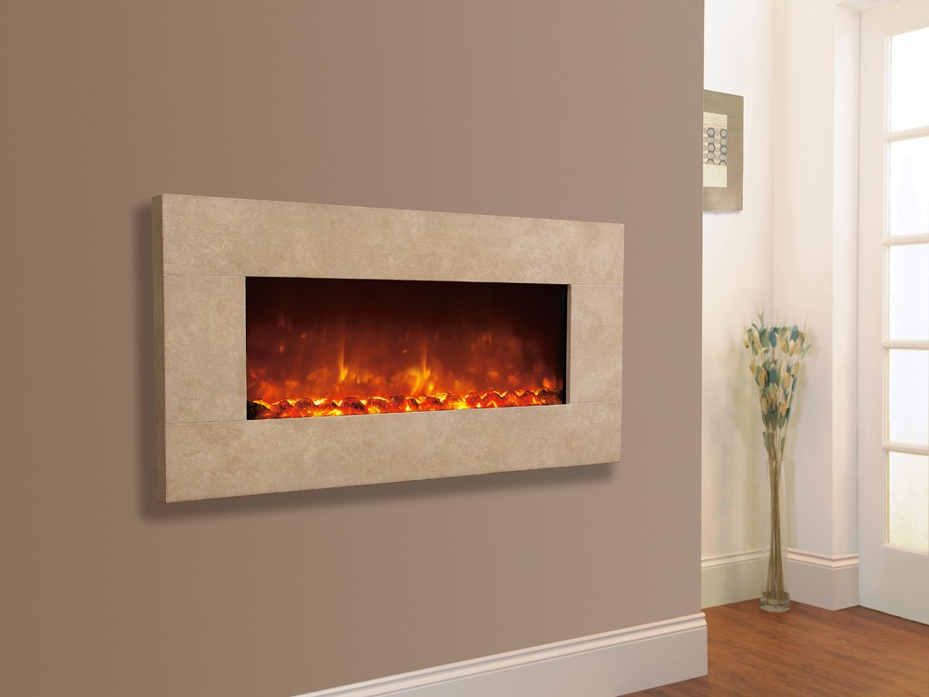 1.8KW Electriflame XD 1300 Travertine Electric Fire
