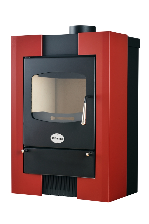 9KW Espo 1 Red Woodburning Stove