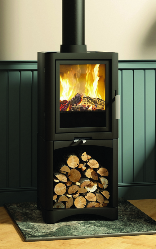5kW Evolution 5 SE Multi Fuel Stove with Log Store