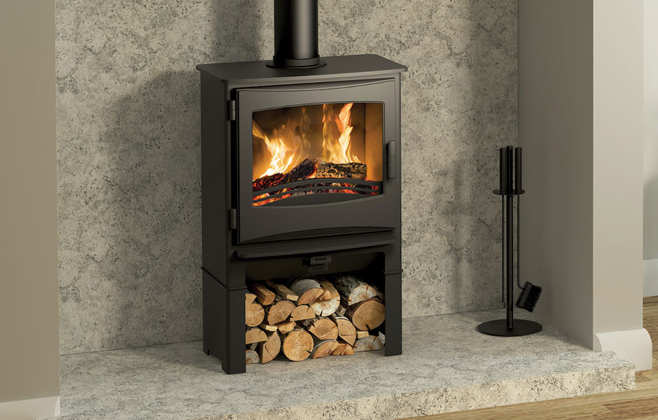 5KW Ignite 5 Widescreen with Log Store Multi Fuel Stove