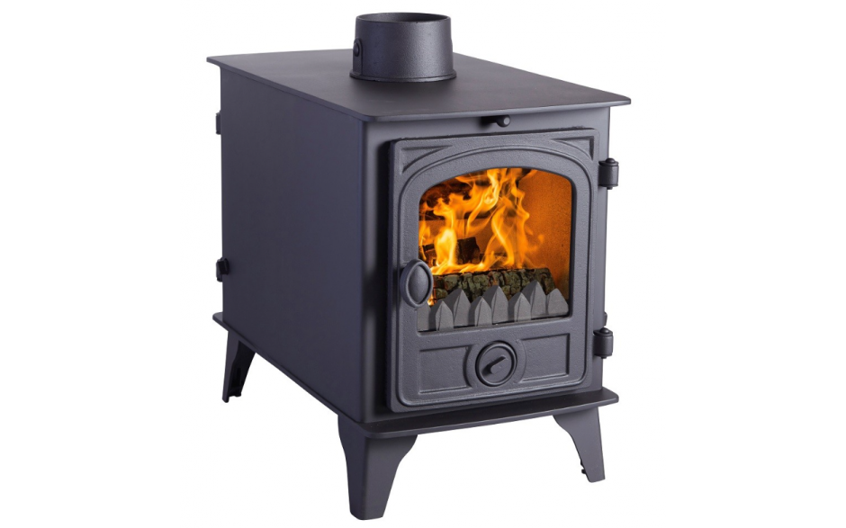 6-11kW Hawk 4D Double Sided Multi Fuel Stove
