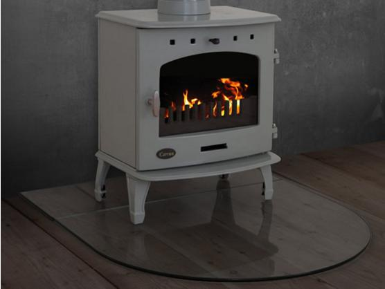 Carron Curved Front Glass Hearth