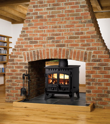6.5 - 10.5KW Herald 6 Double Sided Multi Fuel Stove