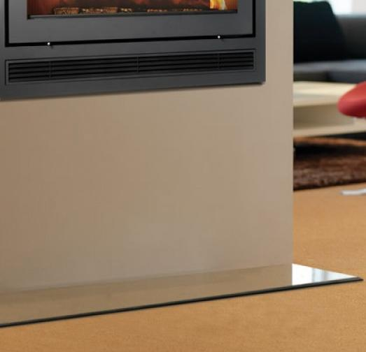 Inset Stove Glass Floor Plate