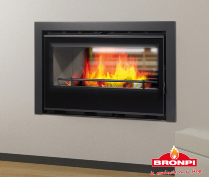 19KW Kenia 90D Vision Double Sided Cassette Woodburning Stove