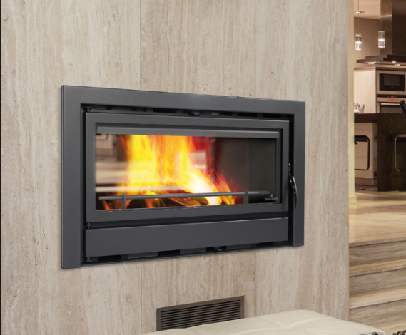 19KW Kenia 90D Double Sided Cassette Woodburning Stove