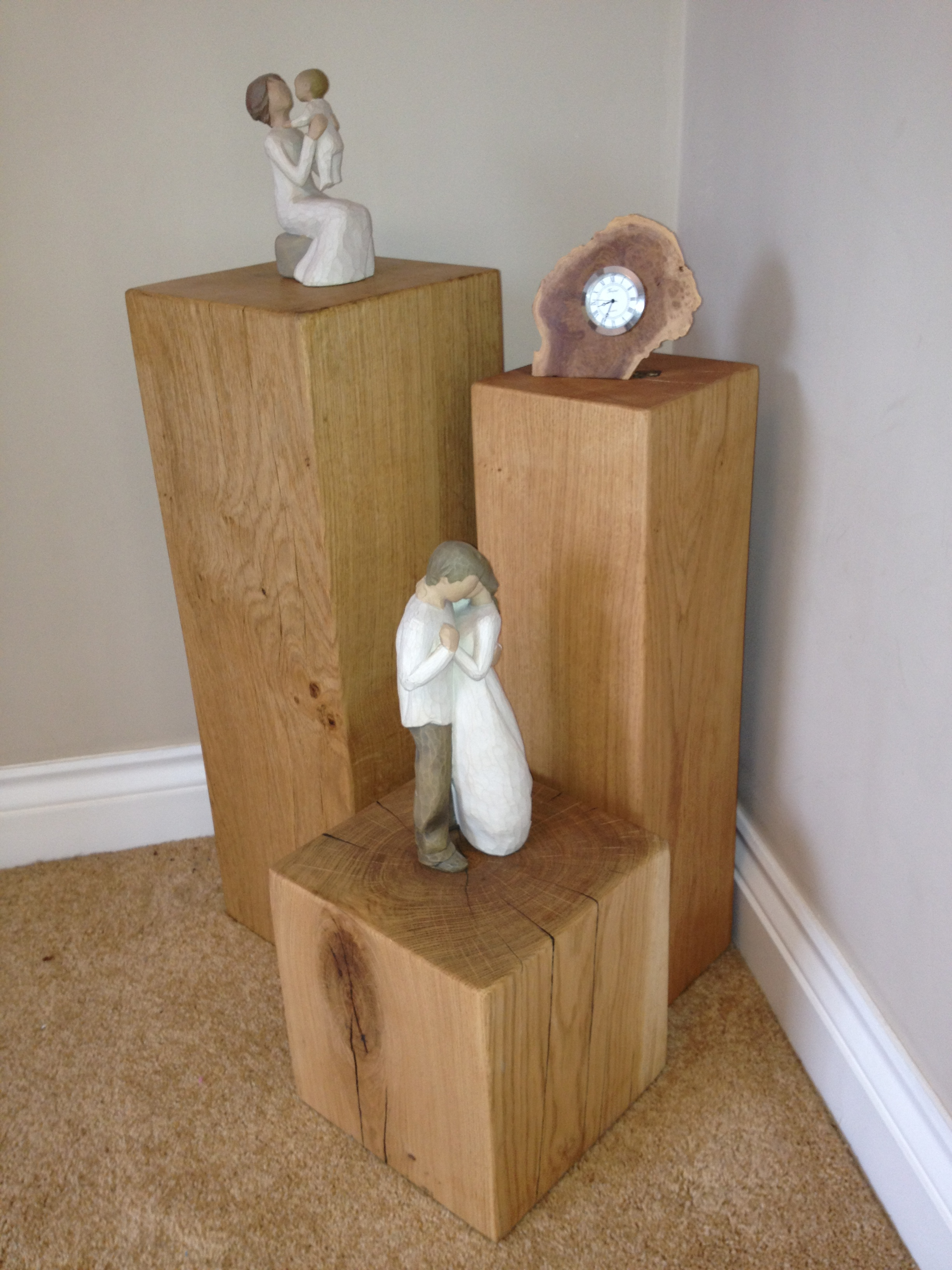 Oak lamp stand 300mm x 250mm x 250mm buy lamp stands for Oak floor lamp stand