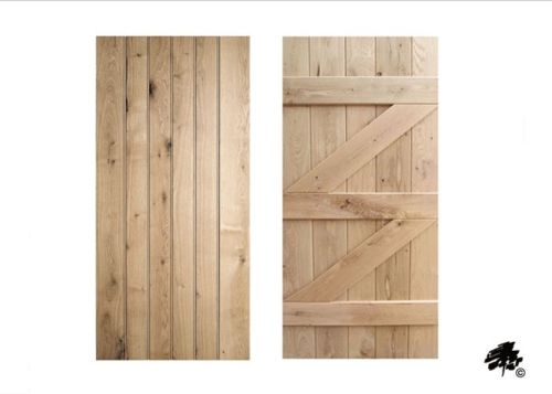 Solid Oak Doors - Ledged and Braced