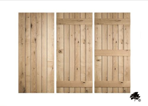 Solid Oak Doors - Ledged