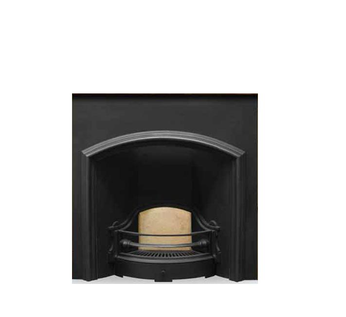 The London Plate Cast Iron Fireplace Insert - Wide