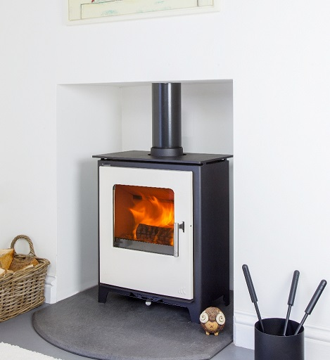 4.5KW Loxton 5 SE Ivory Multi Fuel Stove