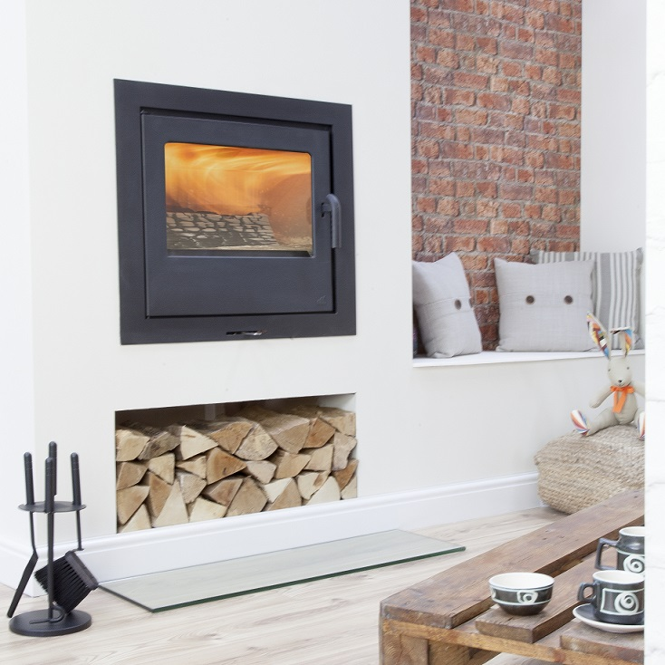 10kW Loxton 10 Inset Multi Fuel Stove