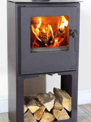6KW Loxton 6 SE Multi Fuel Stove with Log Store