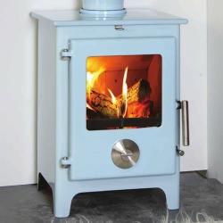 4.8KW Mendip 5 SE Powder Blue Woodburning Stove