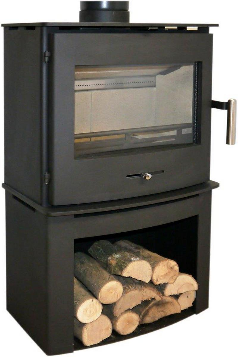4.5KW Newbourne 40FS Multi Fuel Stove with Log Store - EX DISPLAY MODEL