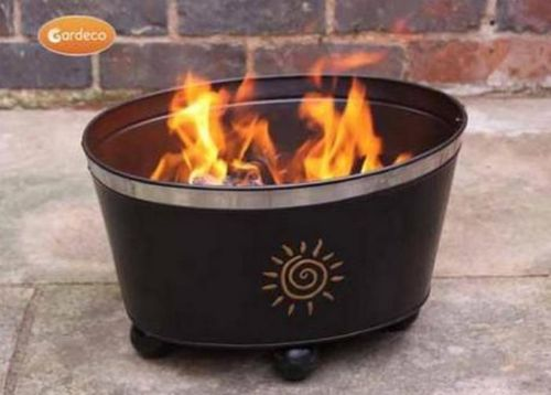 Orbita Stackable Fire Bowl with Sun Motive