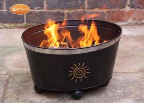Orbita Stackable Fire Bowl with Sun Motive