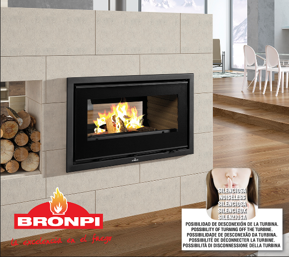 13KW Panama-D Double Sided Woodburning Cassette Stove