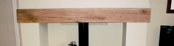 Planed Oak Mantel Piece - 610mm Length