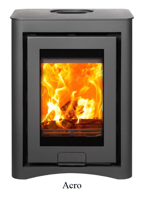 4.9kw Di Lusso R4 Cube SE Wood Burning Stove