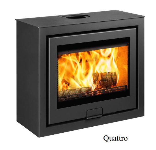 4.9kw Di Lusso R6 Cube SE Wood Burning Stove