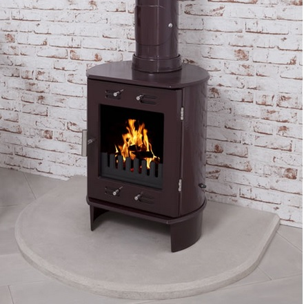 Carron Sandstone Curved Stove Hearth