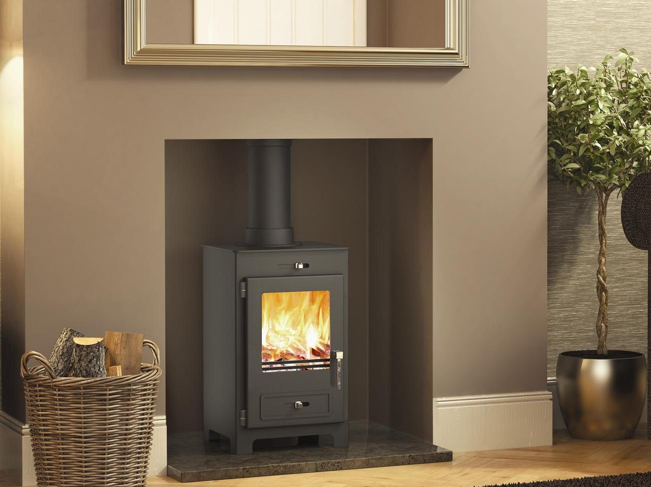 5KW Silverdale 5 SE Woodburning Stove - Modern Wood Burning Stoves Excellent Value Wood Burning Stoves