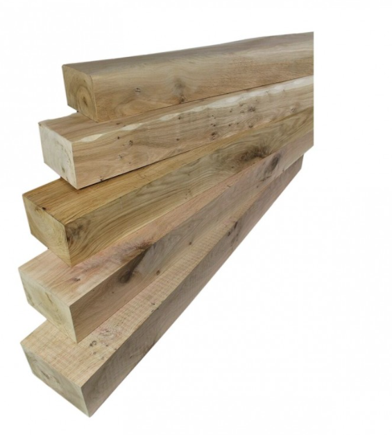Sawn Oak Mantel Piece - 610mm Length