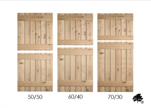 Solid Oak Doors - Ledged Stable