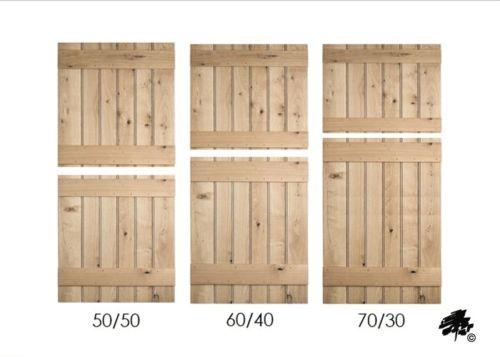 Solid Oak Doors - Ledged Stable