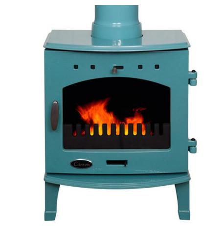 4.7KW Carron Teal Enamel Multi Fuel Stove