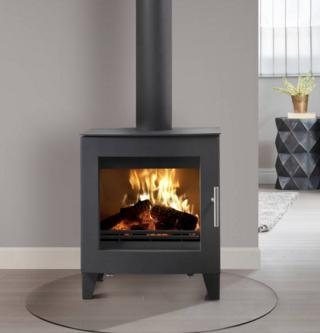 5.3KW Uniq 23 SE Woodburning Stove - Curved Door