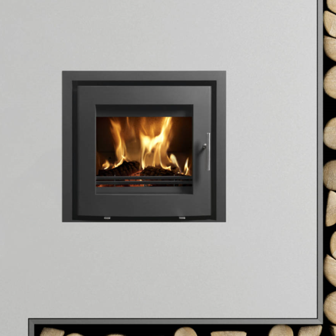 6.1kw Uniq 23 Inset Woodburning Stove - Curved Door