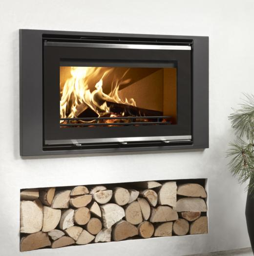 5.9KW Uniq 32 Inset SE Woodburning Stove with Glass Front