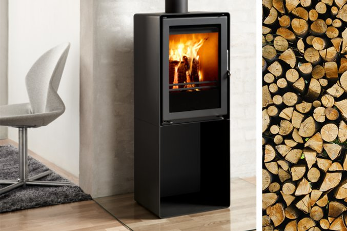 4.3kw Uniq 35 Convection Multi Fuel Pedestal Stove - EX DISPLAY MODEL