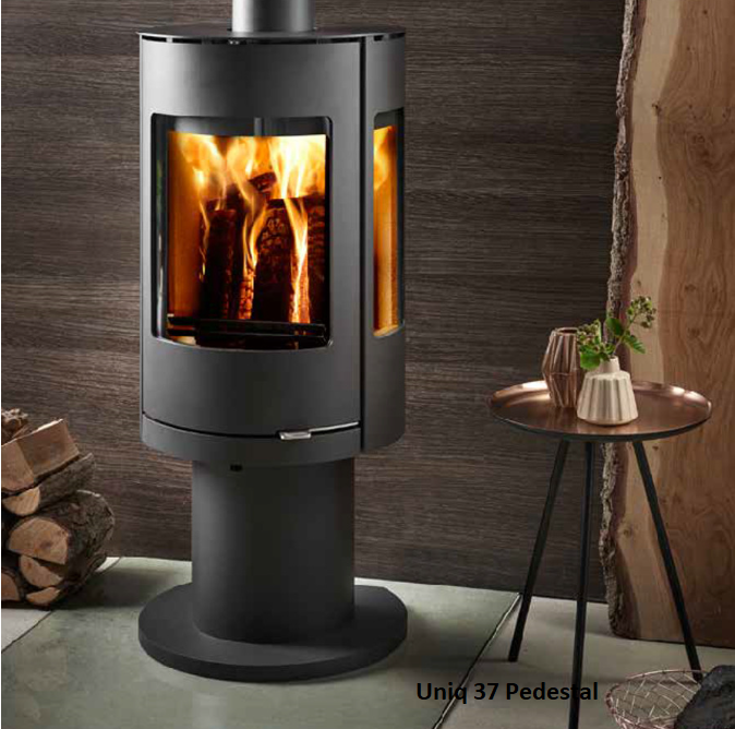 7.2kw Uniq 37 Convection Pedestal SE Woodburning Stove - EX DISPLAY