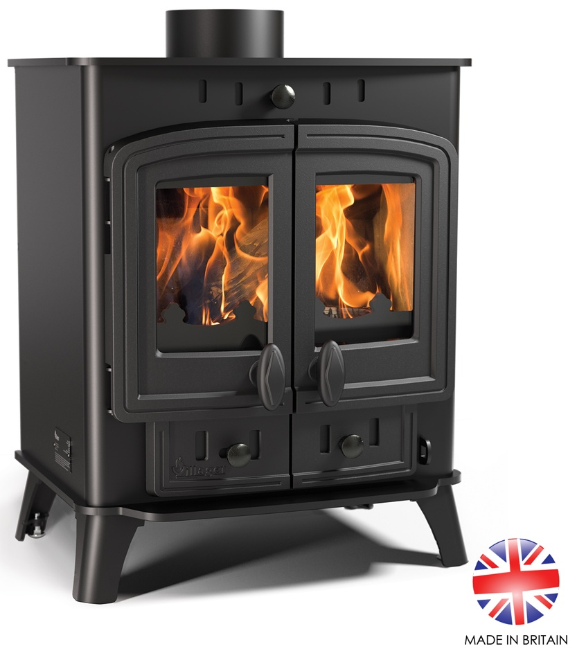 4.9kw Villager Duo 5 Multi Fuel Stove