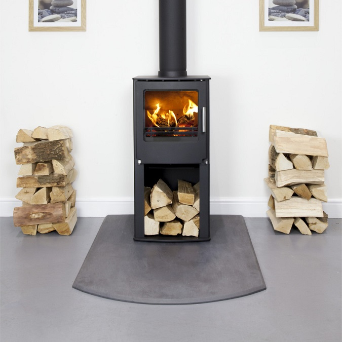 4.9KW Westfire One with Pedestal Woodburning Stove