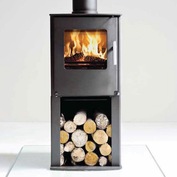 4.9KW Westfire One with Pedestal Multi Fuel Stove