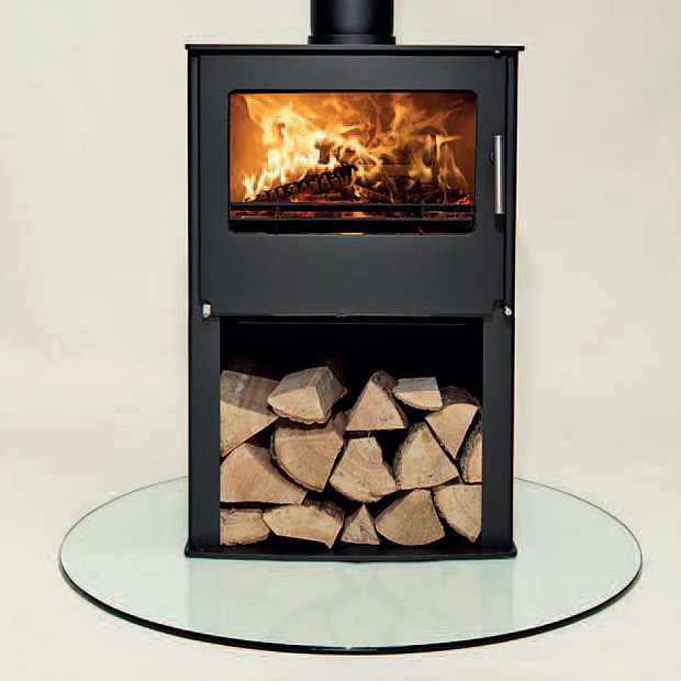 7KW Westfire Two with Pedestal Multi Fuel Stove