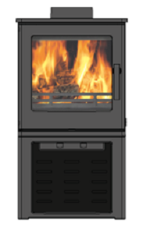 4.3kW Woodpecker WP4LS SE Woodburning Stove with Log Store